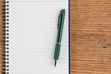 Lined Notebook And Pen, Checklist  Memo Reminder Memorandum