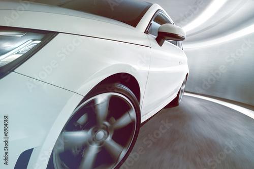 fototapeta na lodówkę Sportscar in Tunnel