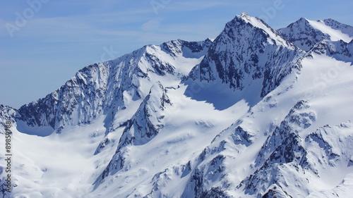 Papiers peints Alpes schnee und weiße sonnige gipfel der alpen
