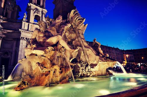 Fotografie, Obraz  Piazza Navona