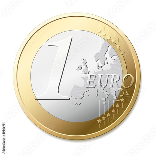 Fotografía  One euro coin vector