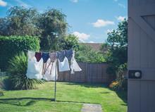 Laundry Drying In Garden
