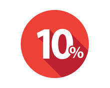 10 Percent Discount Sale Red Circle