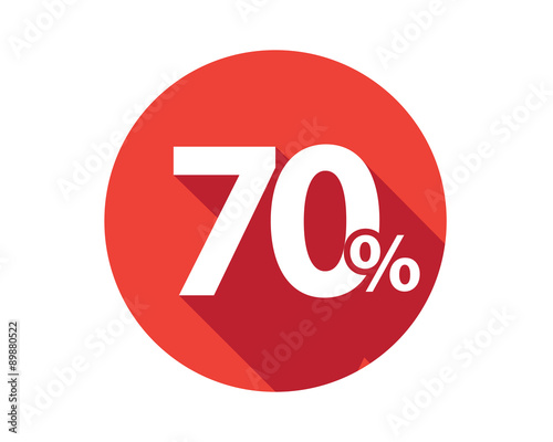 Fotografie, Obraz 70 percent  discount sale red circle