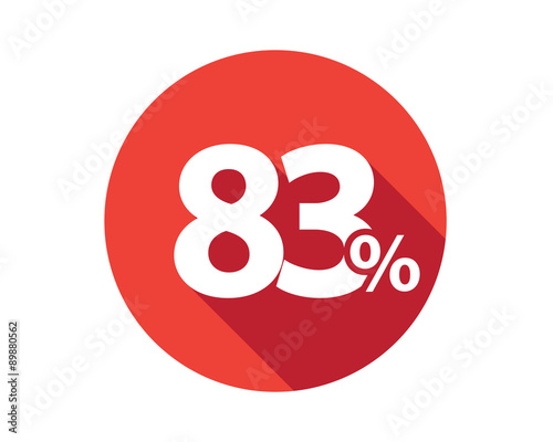 Papel de parede  83 percent  discount sale red circle