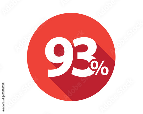 Fototapeta 93 percent  discount sale red circle