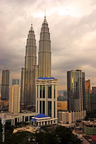 Petronas Twin Towers at Kuala Lumpur, Malaysia. .. #89882138