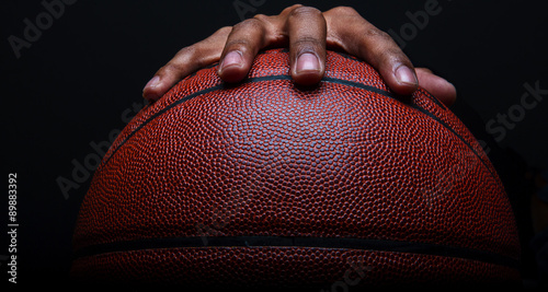 Basketball and Hand Gripping Canvas Print
