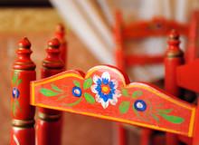 Detalle De Una Silla Tradicional Andaluza