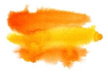 Yellow - Orange Watercolor Bru...