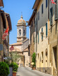 Small streets in San Quirico d'Orcia