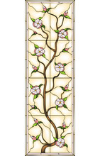Flowers, Stained Glass Window
