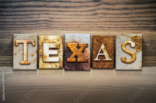 Foto op Canvas Texas Texas Concept Letterpress Theme