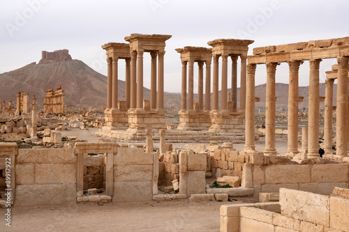 Photo Ruins of ancient city of Palmyra - Syria (Before Civil War)