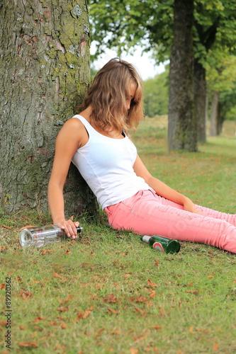 Betrunken Mädchen