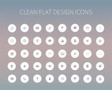 Flat Icons Pack For Webdesign