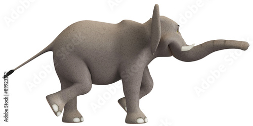 Foto op Aluminium Olifant elephant walk