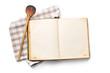 Leinwandbild Motiv open recipe book