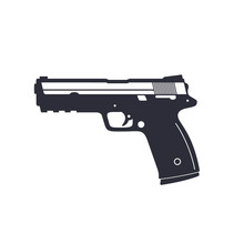 Gun, Pistol, Handgun, Vector I...