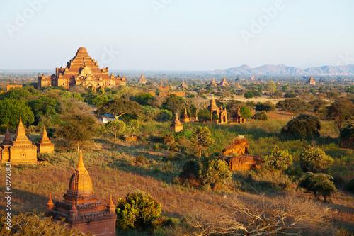 Staande foto Droogte Ancient pagodas in Bagan, Myanmar