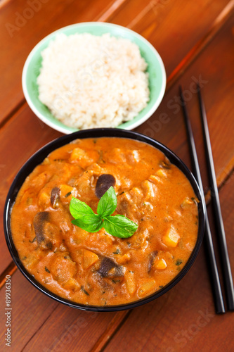 Photo  Vegetarian thai curry