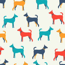 Animal Seamless  Pattern Of Do...