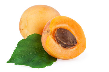 Apricots isolated with clipping path