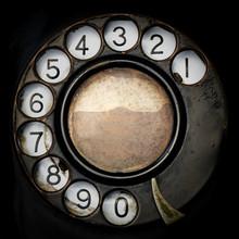 Closeup Old Telephone.