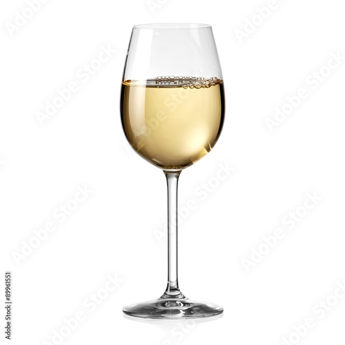 Deurstickers Alcohol White wine glass