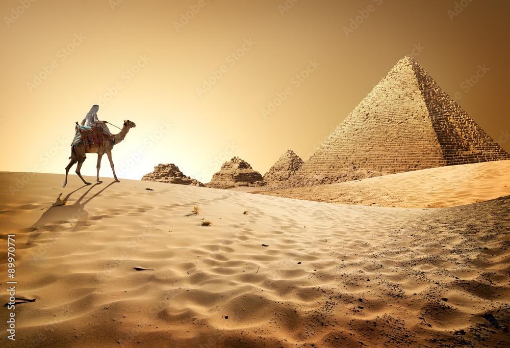 Fototapeta Pyramids in desert