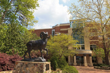 Ramses, The Bighorn Ram. The Sculpture Sits At The Entrance Of Kenan Football Stadium On The University Of North Carolina's Campus In Chapel Hill.