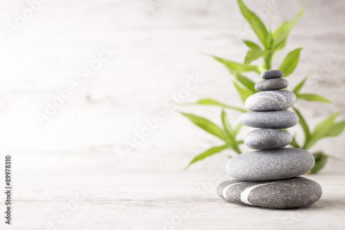 Fotobehang Zen Spa stones.