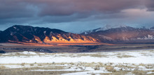 Montana Valley And Mountains Dramatic Storm Sunset