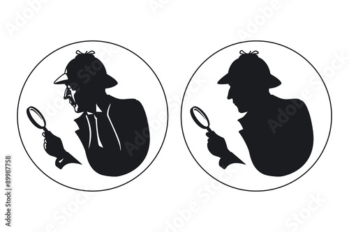 Photo  Detective vector silhouette
