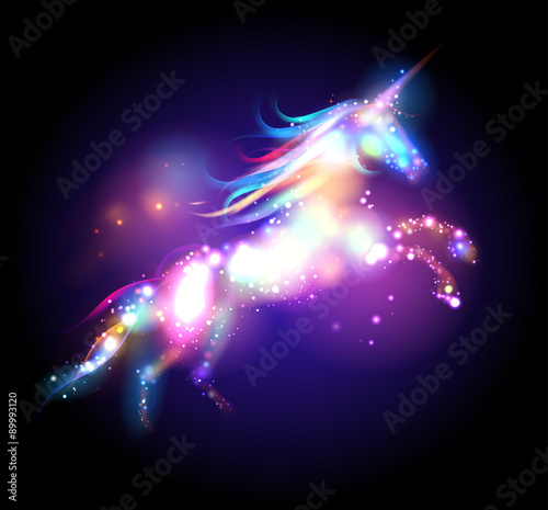 Star magic unicorn logo. Wallpaper Mural