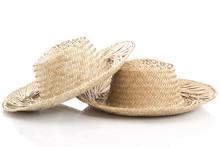 Close Up Of Vintage Summer Straw Hat