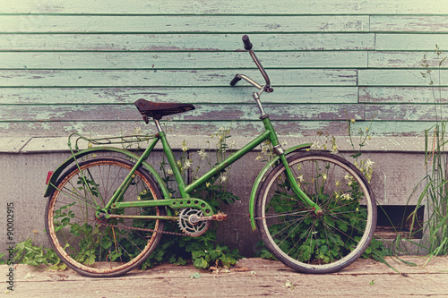 Photo sur Toile Velo Old retro bike.