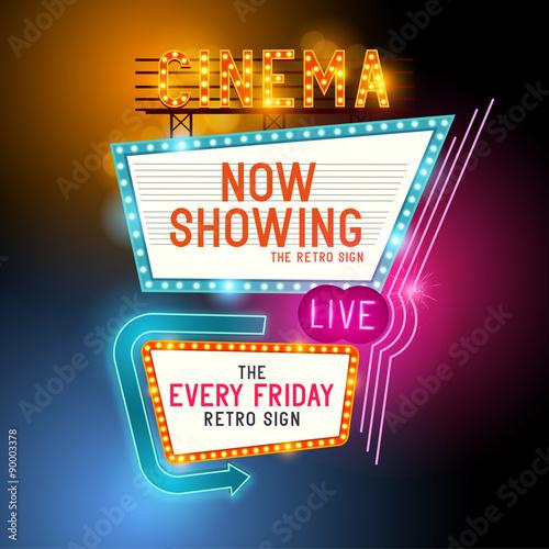 Fotografia Retro Showtime Sign