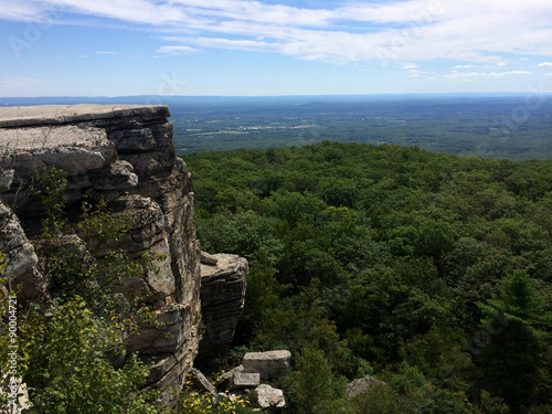 Fotobehang Natuur Park Massive rocks and view to the valley at Minnewaska State Park Reserve Upstate NY during summer time