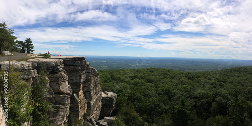 Tuinposter Natuur Park Panoramic view at Minnewaska State Park Reserve Upstate NY during summer time
