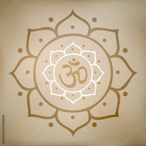 Vector om symbol in lotus flower illustration buy this stock vector om symbol in lotus flower illustration mightylinksfo