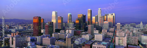 Cuadros en Lienzo  Skyline, Los Angeles, California