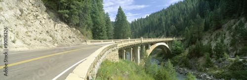 Printed kitchen splashbacks Khaki Rainbow Bridge, Highway 55, Payette River, Smith Ferry, Idaho
