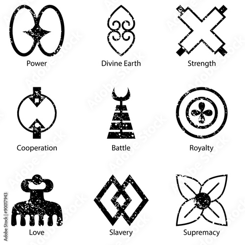 African Adinkra Symbol Icon Set Buy This Stock Vector And Explore