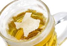 Beer Head Shaped As Texas In A Beer Mug.(series)