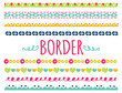 set of colorful border
