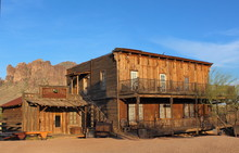 Old Wild West Cowboy Town With...