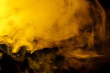 Abstract Yellow Smoke Hookah O...