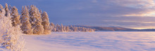 Frozen Äijäjärvi Lake In Fi...