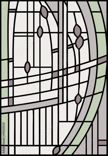abstrakcjonistyczny-projekt-witrazu-okno-wektor